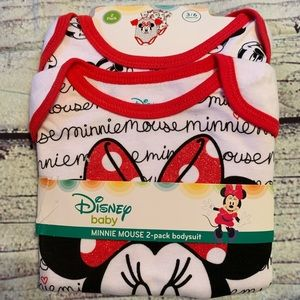 Minnie Mouse Infant Bodysuits-Size-3-6 months